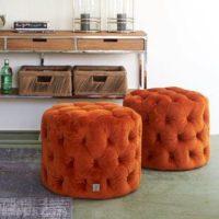 Fodstol - Opera Footstool Velvet Pumpkin BESTILLINGSVARER