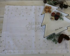 Juledækkeserviet - Sparkle Merry Christmas Placemat