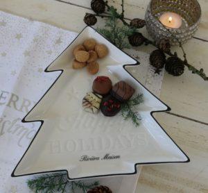 Juletræsfad - Happy Holidays Christmas Tree Plate