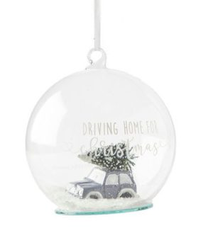 Julekugle - Merry Christmas Car Ornament Dia 10