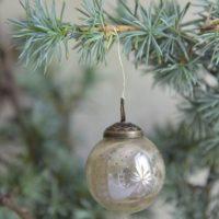 Julekugle - 4 cm - Glas - Antik finish