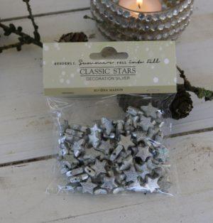 Små sølvstjerner - Classic Stars Decoration silver