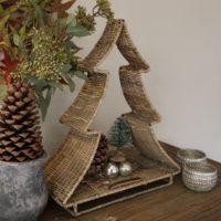 Juletræ - Rustic Rattan Open Christmas Tree
