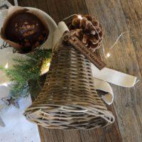 Klokke i rattan - RR Christmas Bell