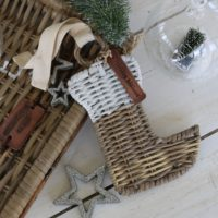 Julesok - Rustic Rattan Christmas Hanger Stocking