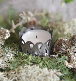 Lysholder 4,2 cm - Spyd - Antik sølv