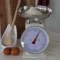 PLINT køkkenvægt, cream/hvid