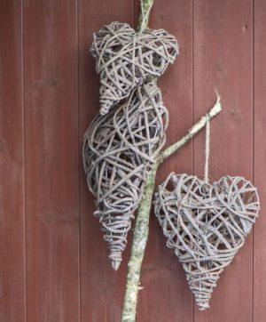 Hjerte omviklet af grene - M