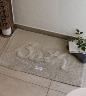Bademåtte lysegrå - Bath Mat 'Bath' stone