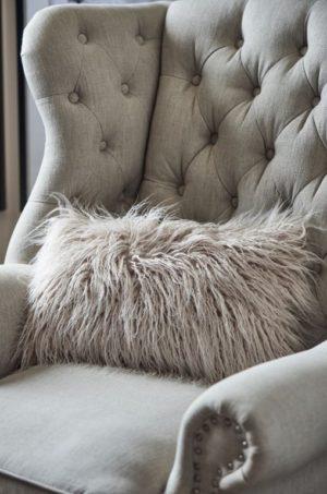 Pudebetræk - Siberian Faux Fur Pillow Cover nude 50x30