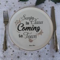 Juletallerken 2 stk - Santa Claus Is Coming To Town Plate
