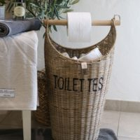 Toiletpapir holder- Rustic Rattan Toilettes Basket