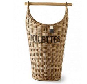 Toiletpapir holder- Rustic Rattan Toilettes Basket