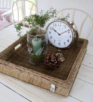 Bakke - Rustic Rattan Vintage tray 50x50 cm