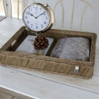 Bakke - Rustic Rattan Vintage tray 60x40 cm