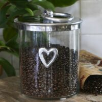 Opbevaringsglas - Heart Metal Storage Jar