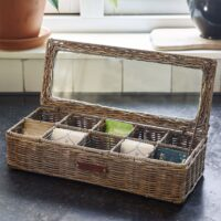 Tebox - Rustic Rattan Classic Tea Box