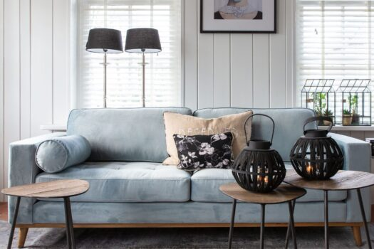 Notting Hill Sofa 3,5s Vel SoSkyBlue