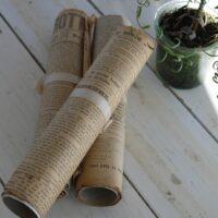 Gamle aviser i bundt - 5 stk.