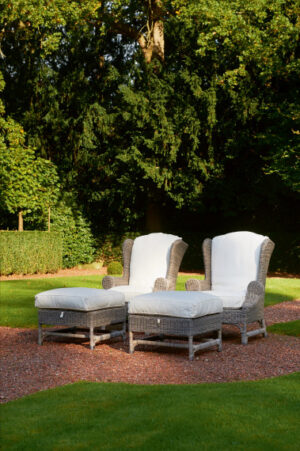 Have lænestol - Outdoor Rustic Rattan Nicolas Wing Chair BESTILLINGSVARER