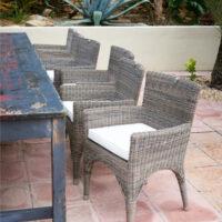 Havestol - Rustic rattan Outdoor The Hamptons Dining Chair BESTILLINGSVARER