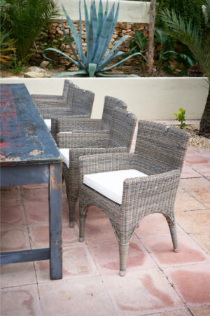 Havestol - Rustic rattan Outdoor The Hamptons Dining Chair BESTILLINGSVARER