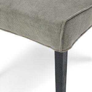 Bridge Lane Dining Chair Diamond Stitch, italian rib, mouse BESTILLINGSVARER