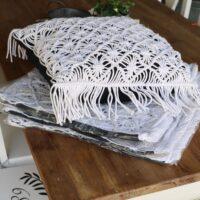 5 stk hvide pudebetræk