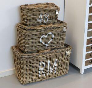 Kurvesæt a 3 stk - Rustic rattan classic RM basket s/3