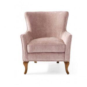 Lænestol - Cavendish Armchair Velvet Pink - PÅ LAGER