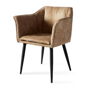 Megan Dining Arm Chair Black Leg, pellini, camel - BESTILLINGSVARER