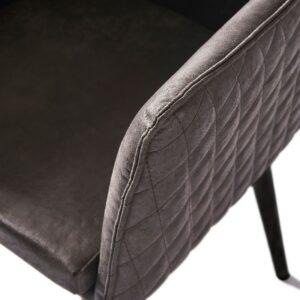 Megan Dining Arm Chair Black Leg, pellini, espresso - BESTILLINGSVARER