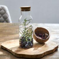Glasflaske, mellem str. - Enjoy Relax and Refresh Bottle M
