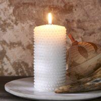 Perle Bloklys - Pretty Pearl Candle 7x14