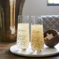 Sparkle Champagne Glasses 2 pcs