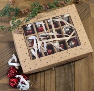 12 stk. røde julekugler - Happy Holiday Orn. red 12 pcs
