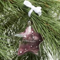 Glasstjerne - Warm Wishes Star Ornament