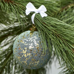 Grøn/guld julekugle - Merry Everything Ornament Dia 10