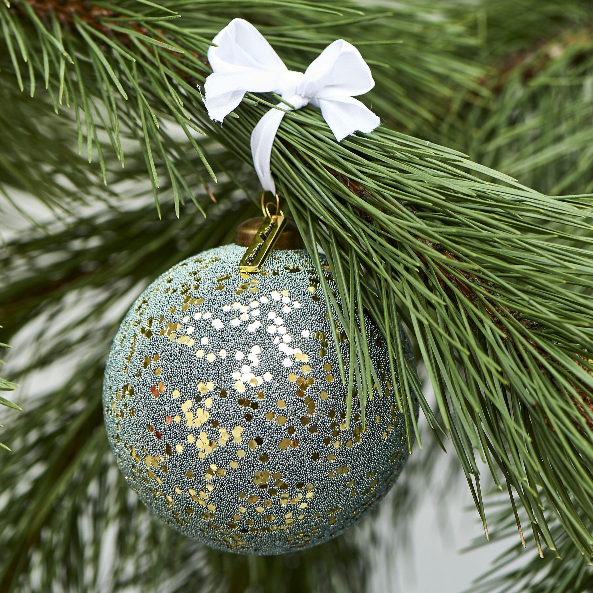 Grøn/guld julekugle – Merry Everything Ornament Dia 10