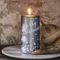 Julebloklys - Merry Christmas Star Candle 7x14