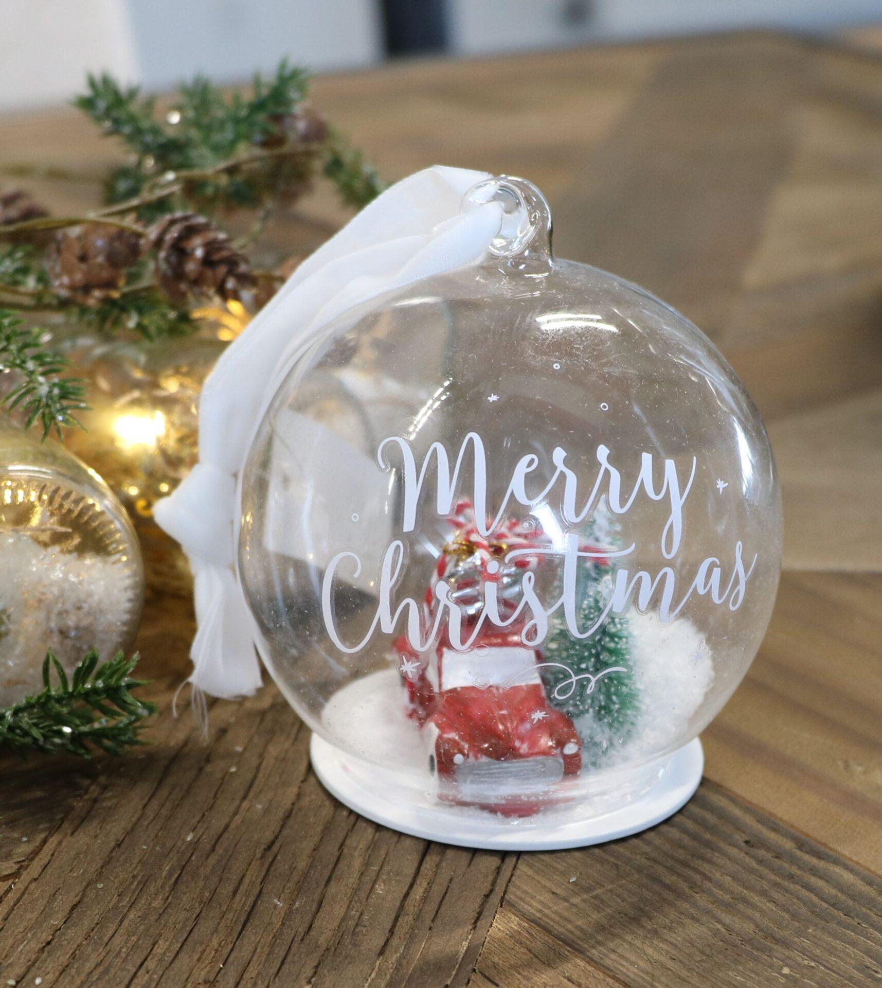 Julekugle m. bil – Christmas World Ornament Dia 10