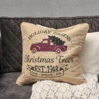 Julepude - Holiday Gr Christmas Tr P.C. 50x50