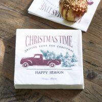 Juleservietter m. bil - Paper Napkin Christmas Time