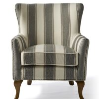 Lænestol – Cavendish Armchair, Grey stripe