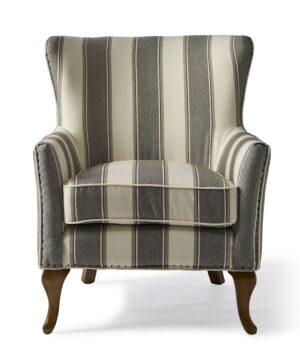 Lænestol – Cavendish Armchair, Grey stripe PÅ LAGER