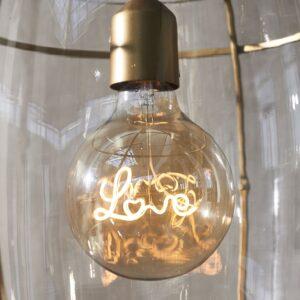 LED pære m. skrift - RM Love Hanging Lamp LED Bulb