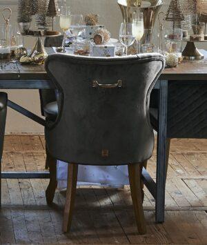 Spisebordsstol - George Dining Chair Vel Slate Grey BESTILLINGSVARER