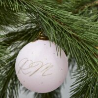 Stor rosa julekugle - Pretty Pastel Ornament Dia 12