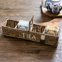 Tebakke - Rustic Rattan Tea Carrier S