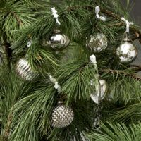 12 stk. Sølv julekugler - Happy Holiday Orn. sølv 12 pcs